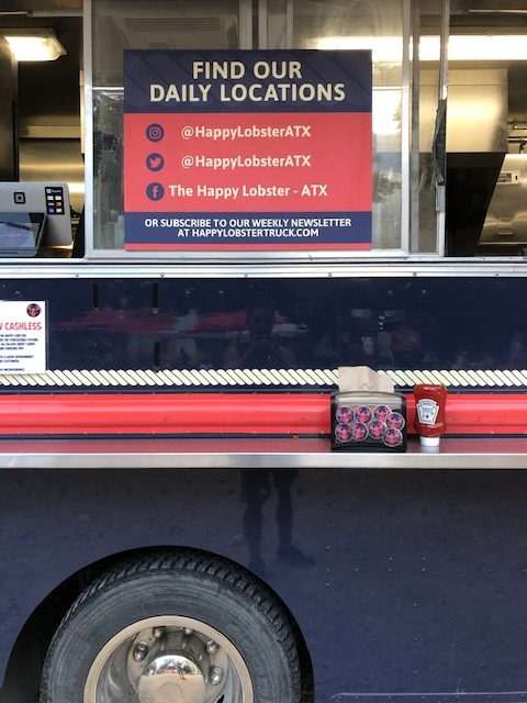 Order Window at Happy Lobster Truck