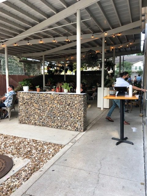 Outdoor seating at Emmer & Rye