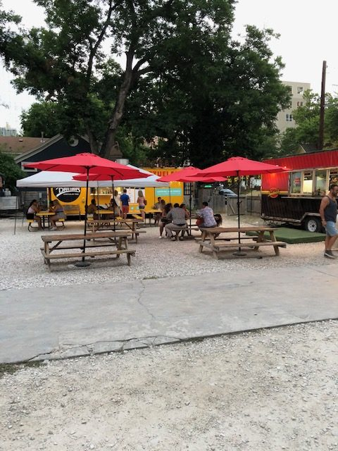 Food Truck Lot Seating
