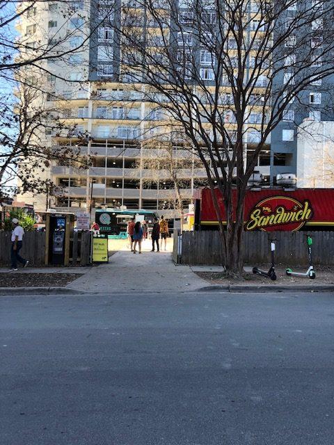 Entrance to 82 Rainey Street Food Truck Lot